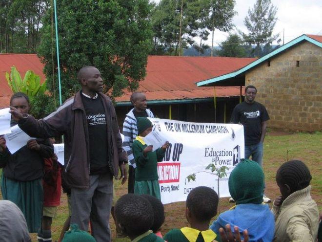 Stephen Kamau - Event organizer at Kenyan schools Stand UP 2011