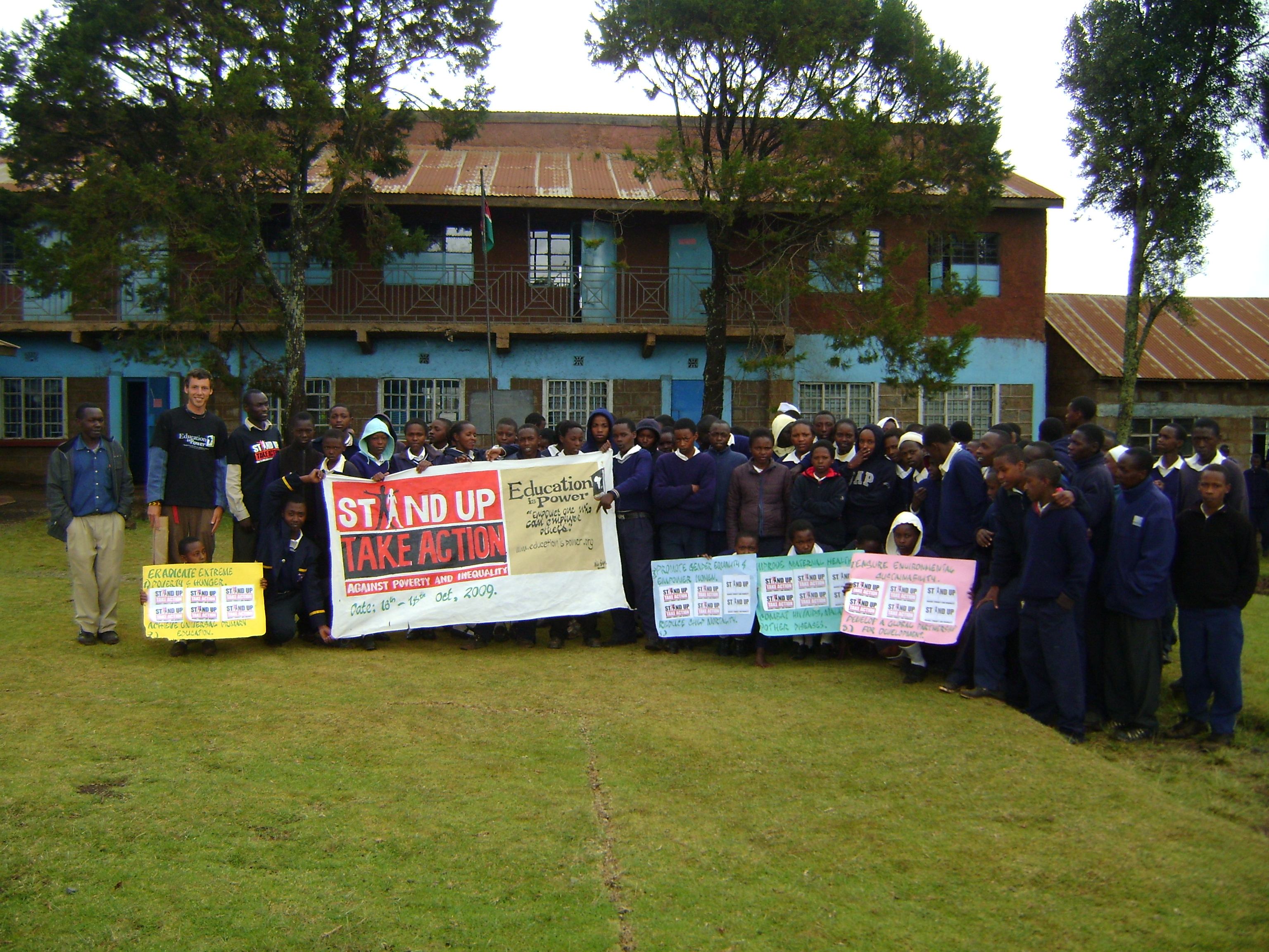 mbau-ini school kimende kenya STAND UP for the millennium devlopment goals