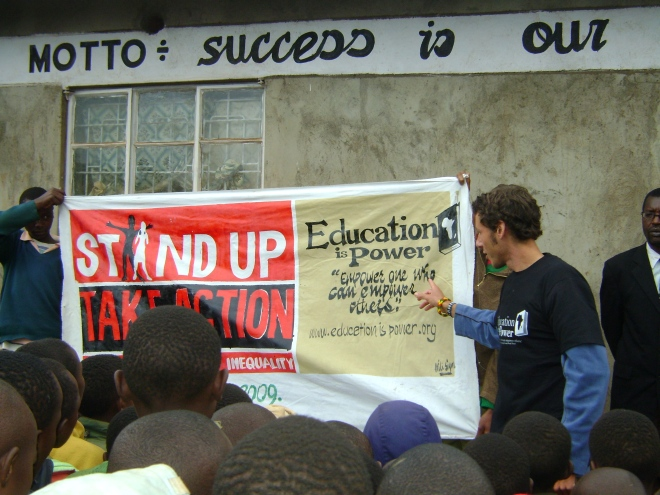 Stand up for UN Millennium Development Goals -EIP campaign kimende kenya